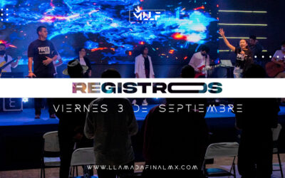 Registro para servicio del Viernes 3 de Septiembre 7:30pm